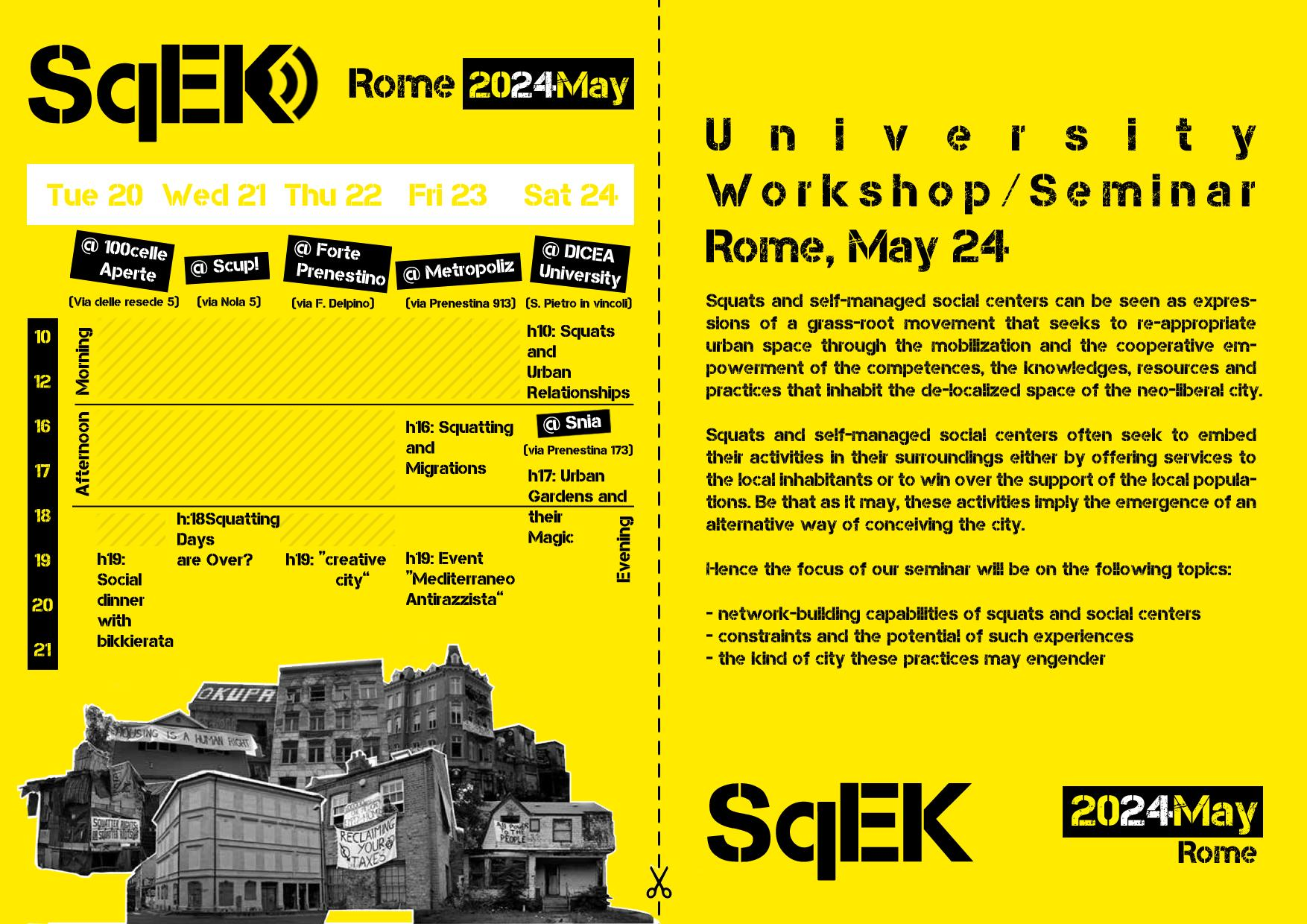 Flyer SqEK in Rome // 20-25 May, 2014