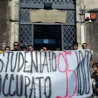 [IT] Studentato Occupato 95100, occupata la sede della biblioteca Ursino Recupero